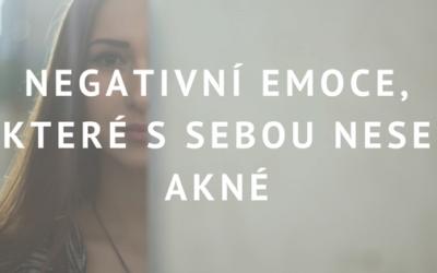 Negativní emoce, které s sebou nese akné